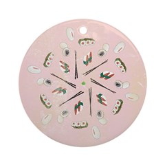 Vintage Sushi Lover Art Ornament (Round)