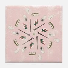 Vintage Sushi Lover Art Tile Drink Coaster
