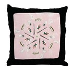 Vintage Sushi Lover Art Throw Pillow