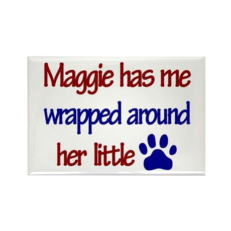 Maggie - Has Me Wrapped Aroun Rectangle Magnet (10