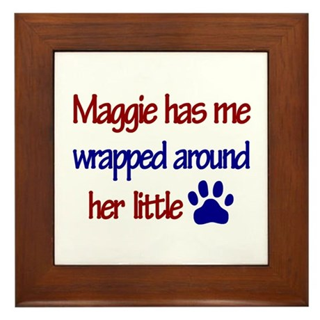 Maggie - Has Me Wrapped Aroun Framed Tile