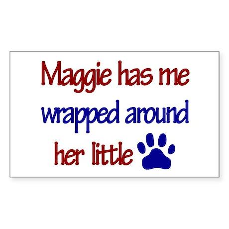 Maggie - Has Me Wrapped Aroun Sticker (Rectangular