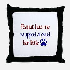 Peanut - Has Me Wrapped Aroun Throw Pillow
