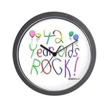 42 Year Olds Rock ! Wall Clock