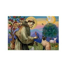 St Francis / Siamese Rectangle Magnet