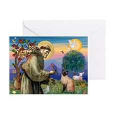 St Francis / Siamese Greeting Cards (Pk of 10)