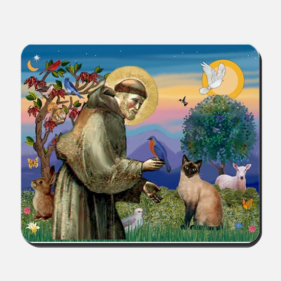St Francis / Siamese Mousepad