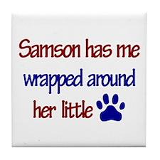 Samson - Has Me Wrapped Aroun Tile Coaster