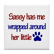 Sassy - Has Me Wrapped Around Tile Coaster