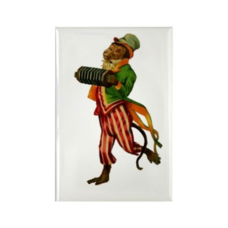 Accordian Monkey Rectangle Magnet (10 pack)