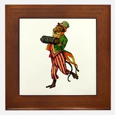 Accordian Monkey Framed Tile