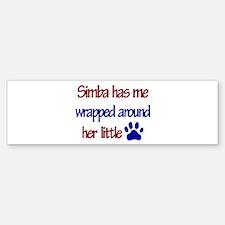 Simba - Has Me Wrapped Around Bumper Bumper Bumper Sticker