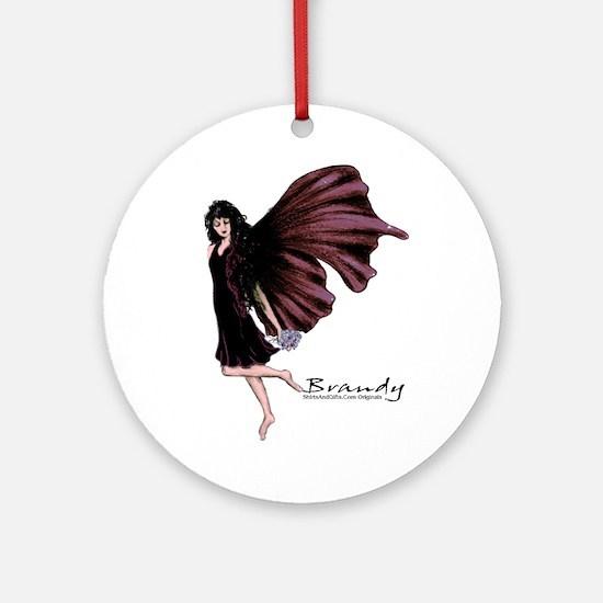 Brandy Fairy Round Ornament