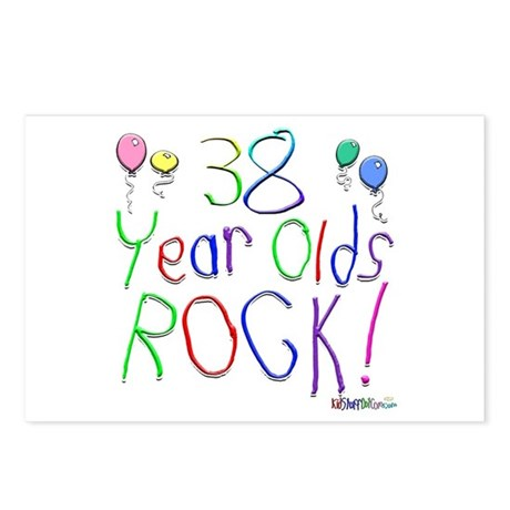 38 Year Olds Rock ! Postcards (Package of 8)