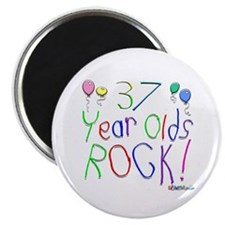 """37 Year Olds Rock ! 2.25"""" Magnet (10 pack)"""
