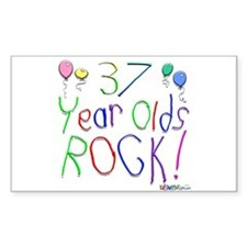 37 Year Olds Rock ! Rectangle Decal