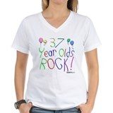37th birthday Womens V-Neck T-shirts