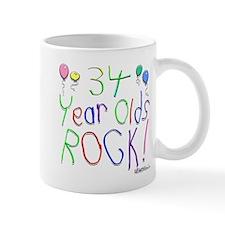 34 Year Olds Rock ! Mug