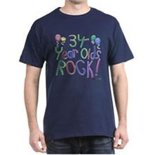 34 Year Olds Rock ! T-Shirt