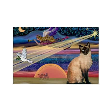 Xmas Star / Siamese Rectangle Magnet (10 pack)