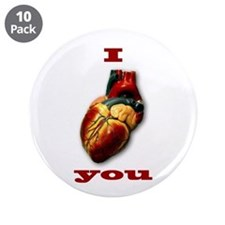 """""""I Heart You"""" 3.5"""" Button (10 pack)"""