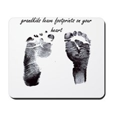 """grandkids leave footprints"" Mousepad"