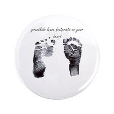 """""""grandkids leave footprints"""" 3.5"""" Button"""