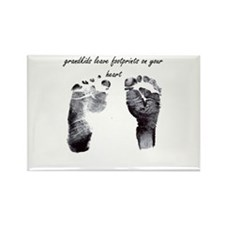 """""""grandkids leave footprints"""" Rectangle Magnet"""
