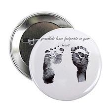"""""""grandkids leave footprints"""" 2.25"""" Button"""
