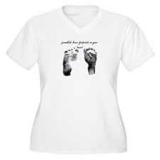 """grandkids leave footprints"" T-Shirt"