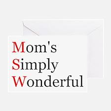 Mom's Simply Wonderful Greeting Card