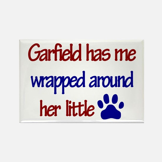 Garfield - Wrapped Around Her Rectangle Magnet