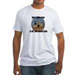 lucky duck wanting more love Fitted T-Shirt