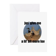lucky duck wanting more love Greeting Cards (Packa