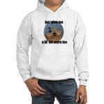 lucky duck wanting more love Hooded Sweatshirt