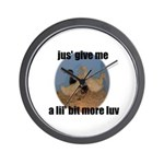 lucky duck wanting more love Wall Clock