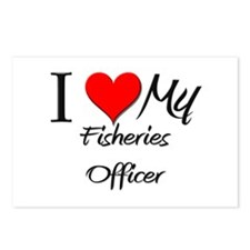 I Heart My Fisheries Officer Postcards (Package of