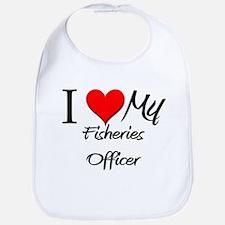 I Heart My Fisheries Officer Bib