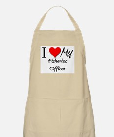 I Heart My Fisheries Officer BBQ Apron