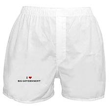 I Love BIG GOVERNMENT Boxer Shorts