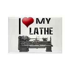 I Heart (Love) My Lathe Rectangle Magnet (10 pack)