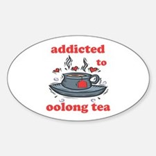 Addicted To Oolong Tea Oval Decal