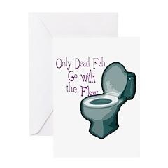 Dead Fish Bowl Greeting Card