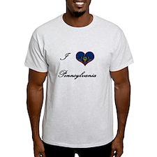 I Love (Heart) Pennsylvania T-Shirt
