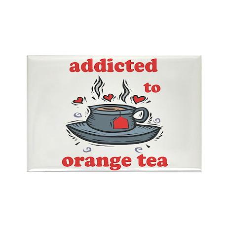 Addicted To Orange Tea Rectangle Magnet (100 pack)