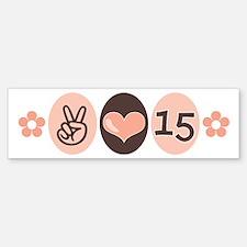 Peace Love Quinceanera Bumper Bumper Bumper Sticker