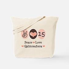 Peace Love Quinceanera Tote Bag