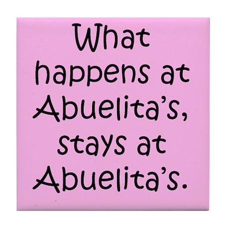 What happens at Abuelita's Tile Coaster