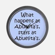 What happens at Abuelita's Wall Clock