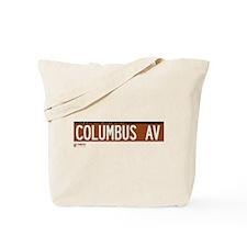Columbus Avenue in NY Tote Bag